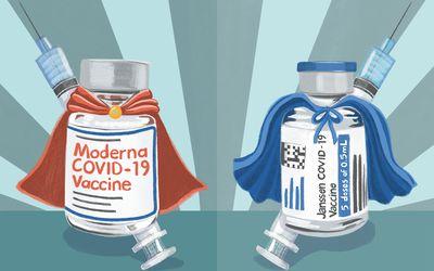 Moderna vs J&J booster illo