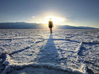 Death Valley salt flats, a source of sodium borate