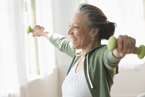 Exercise can help prevent muscle atrophy.