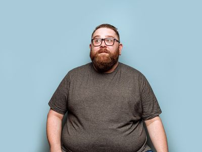 Obese man in his 30s