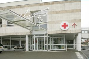 Emergency entrance of hospital building