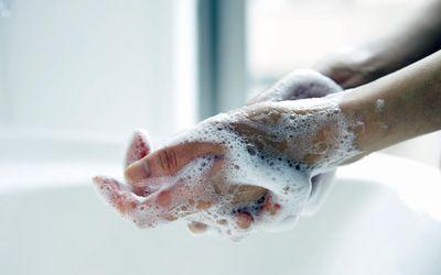 Female washing Hands