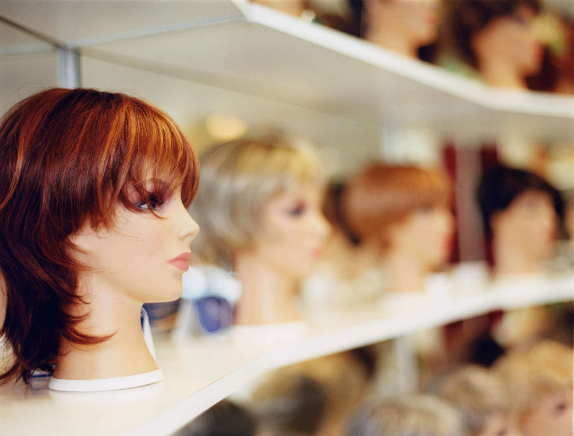 Display in a wig shop