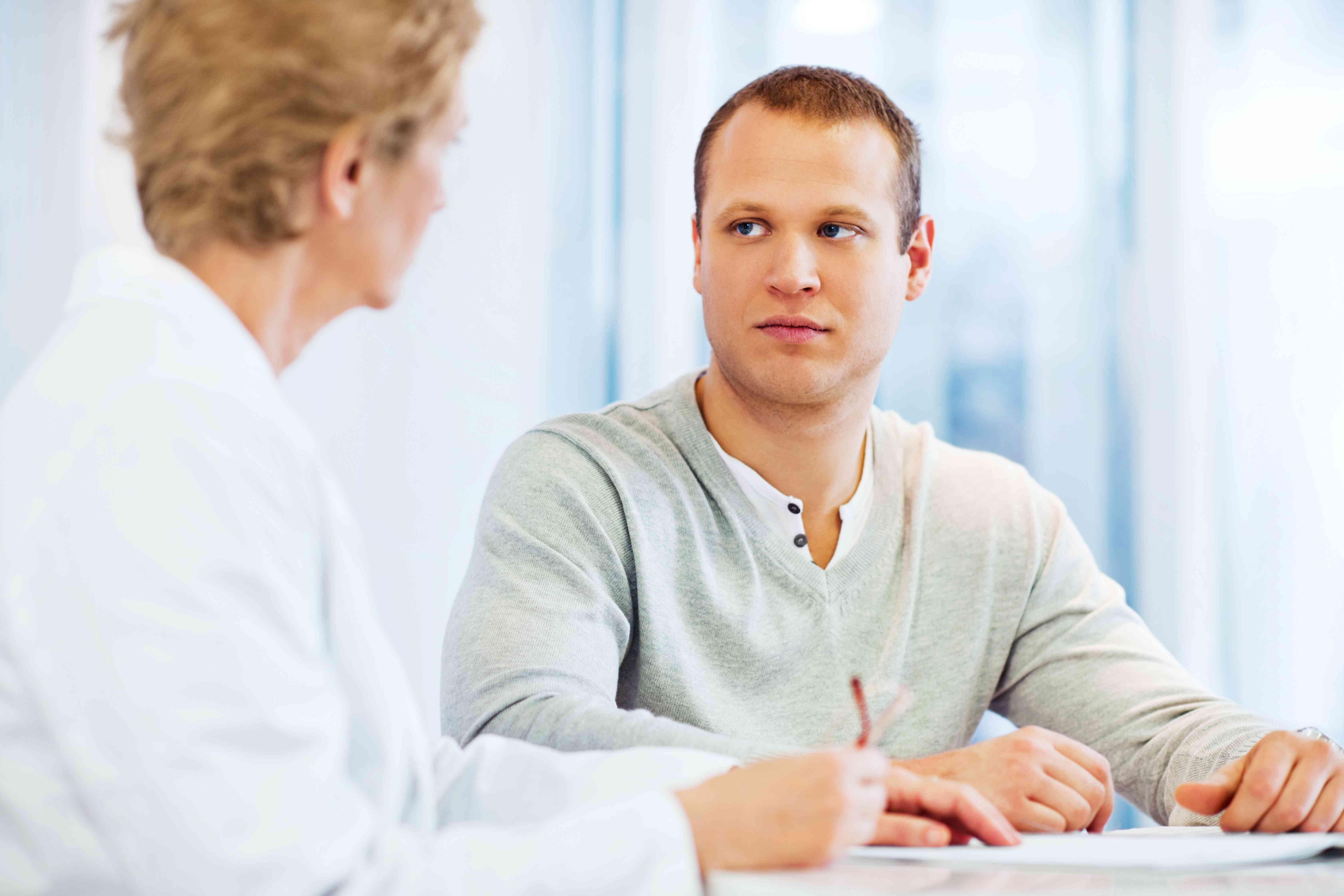 Visiting a psychologist.