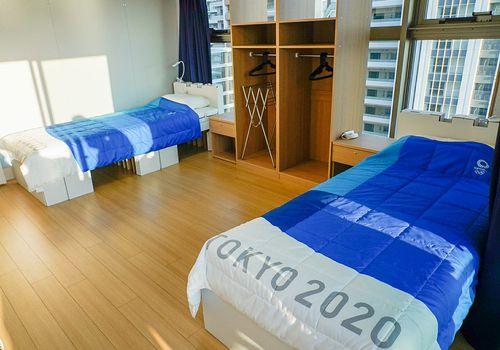 Tokyo Olympics cardboard beds