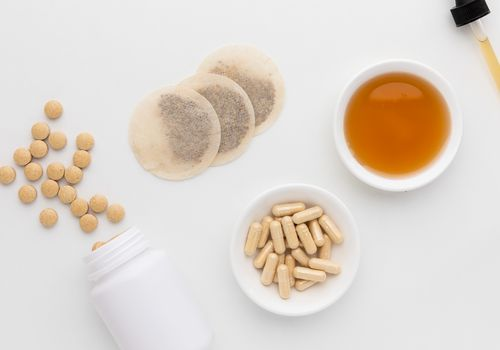 Milk thistle capsules, tablets, tea bags, and tincture