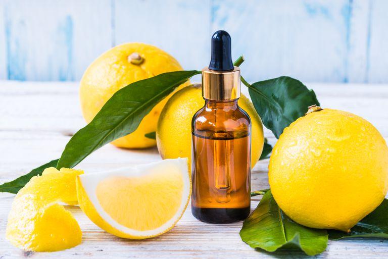Bergamot citrus essential oil, aromatherapy oil natural organic cosmetic.