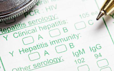 A Hepatitis test.