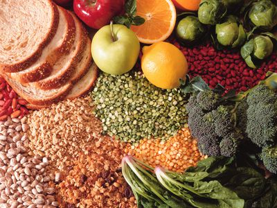 Fruit, vegetables, and bread