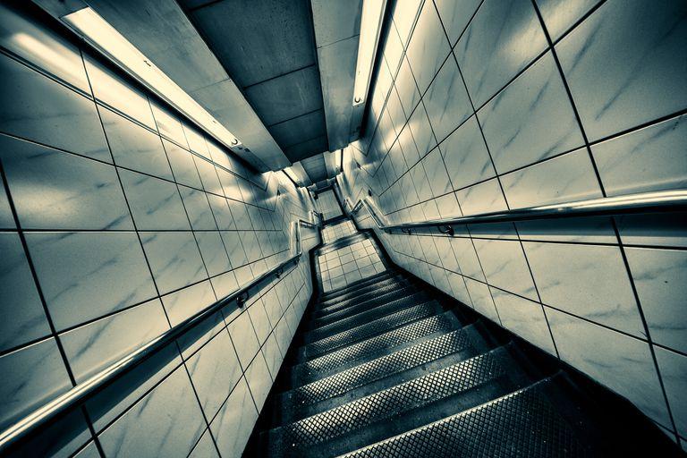 Sideways staircase due to vertigo
