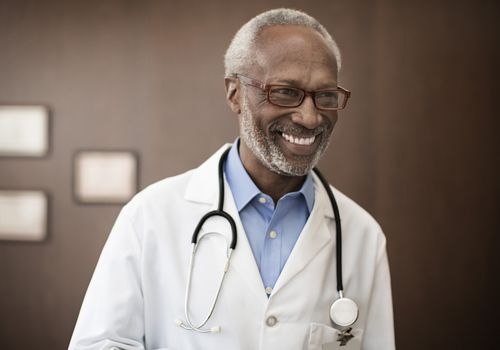 Doctor smiling