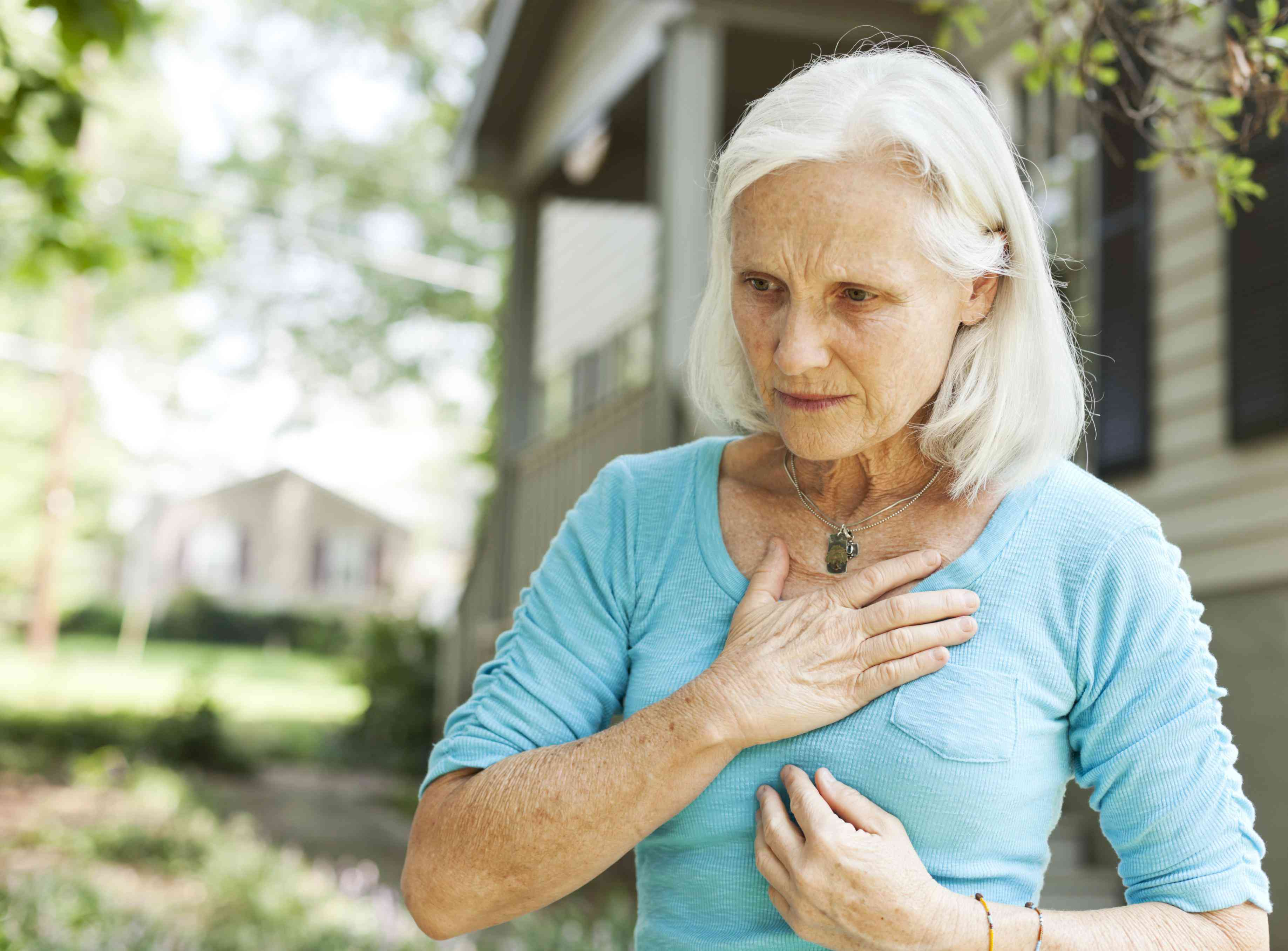 Older woman with shortness of breath