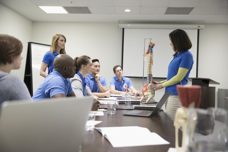 Photo of a physical therapy classroom.