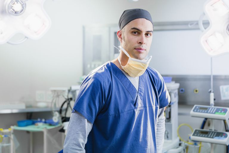A doctor in the operating room.
