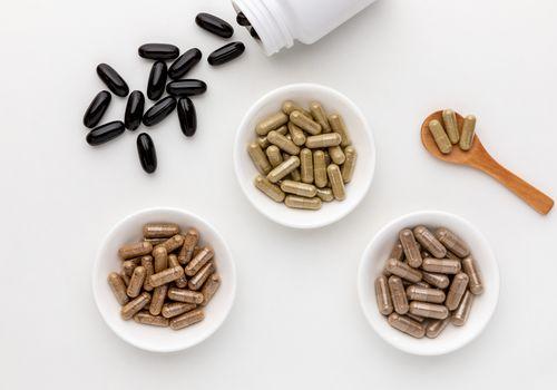 Gotu kola capsules, Triphala capsules, Guggul capsules, Boswellia softgels
