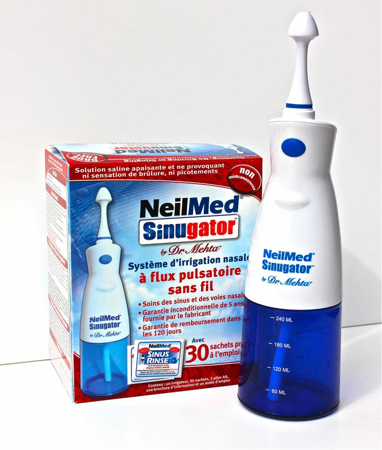 NeilMed Sinugator can help clear sinus congestion