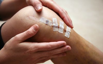 Athletic invasive knee surgery, repairing ligaments