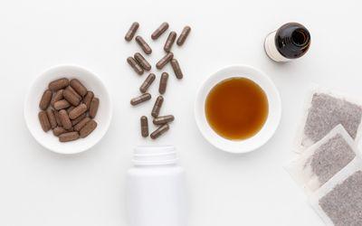Pau d'arco capsules, tablets, tincture, and tea bags
