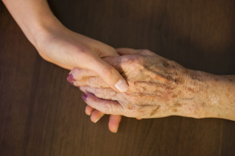 Somatic Theory of Aging. young and old woman's hands
