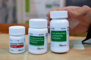 3 pill bottles of antiretrovirals
