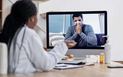Telehealth visit with doctor for allergies