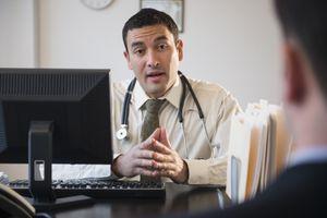 Man speaks to his fertility doctor