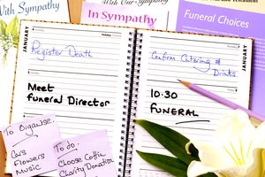 Funeral planning date book and info
