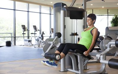 Woman Doing Leg Extensions