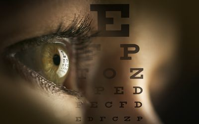 eye and letters