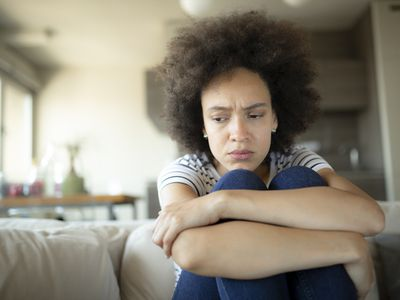 Sad woman suffering from depression