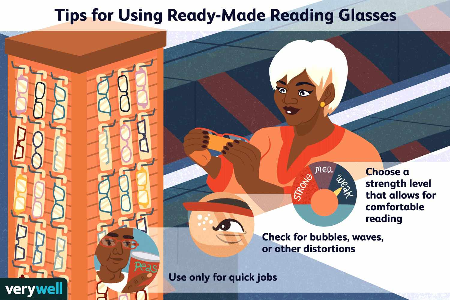 tips for using ready-made reading glasses