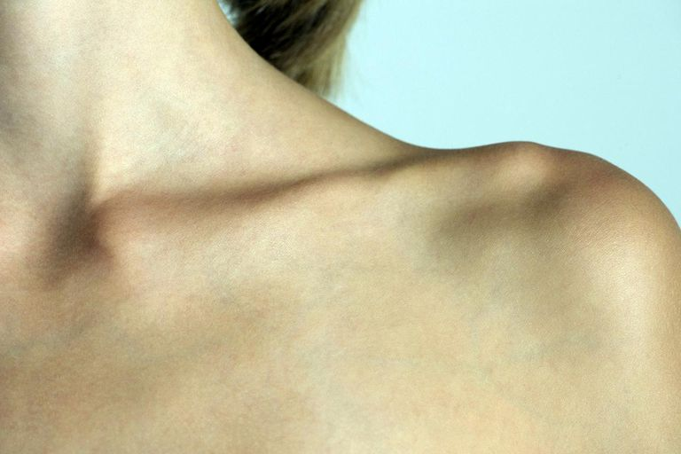 woman's clavicle