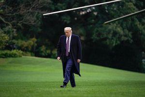 President Trump walking.