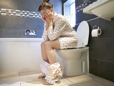 woman with constipation