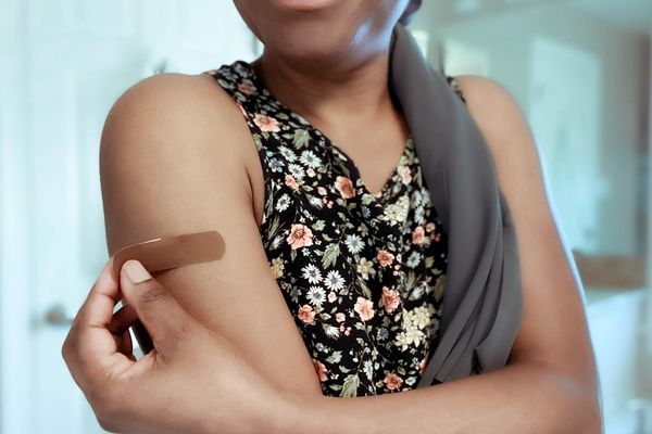 bandaid on darker skin