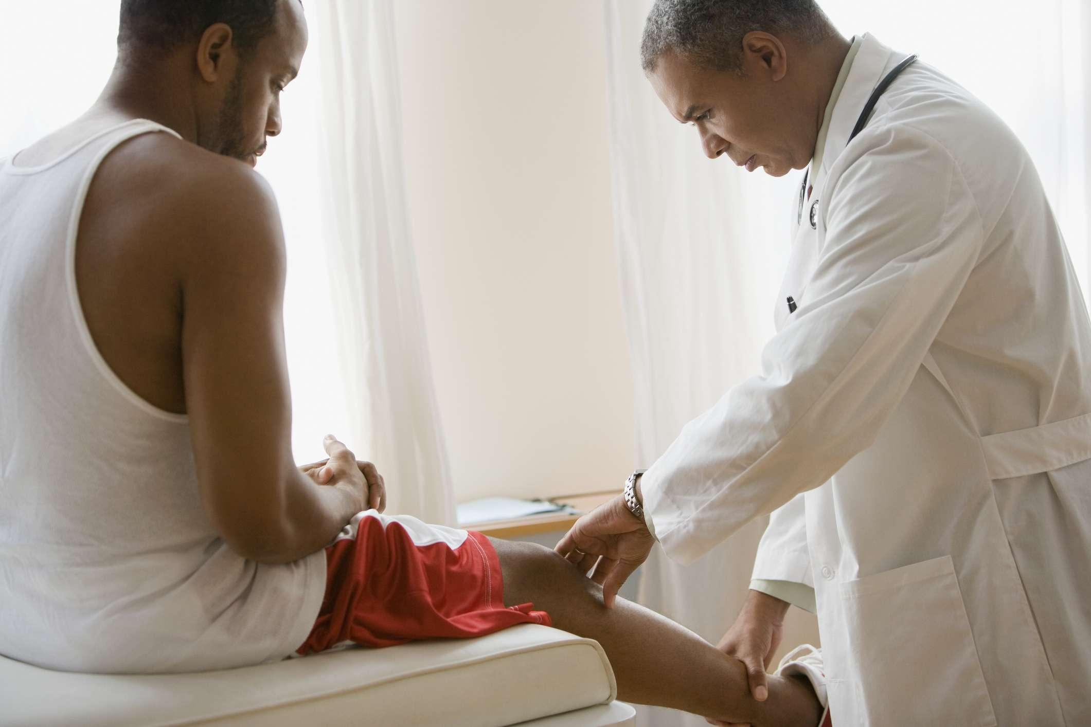 knee joint needle arthroscopy