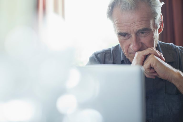 senior man at laptop