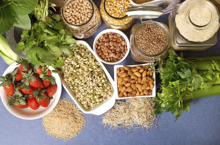 Nuts, fruits, and grains