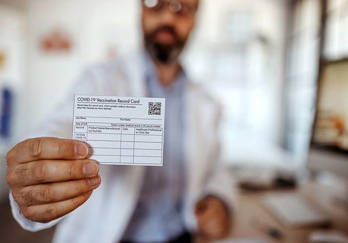COVID-19 vaccination card.