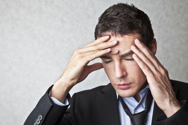 A migraine headache.