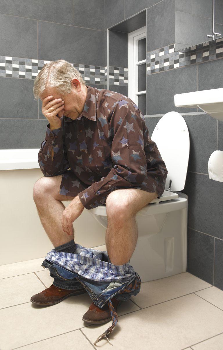 Mature man suffering