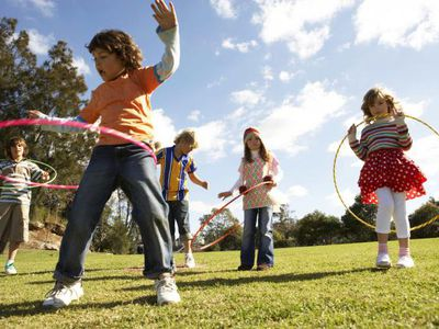 Kids with ADHD playing in the park