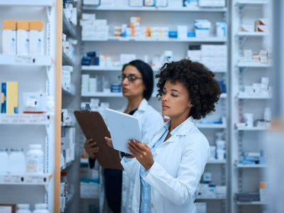 Driving a high performing pharmacy with teamwork - stock photo