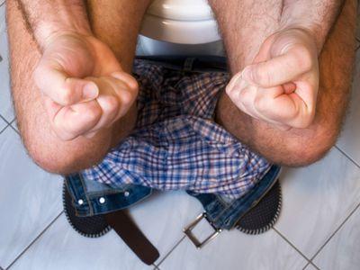 sitting on toilet pain