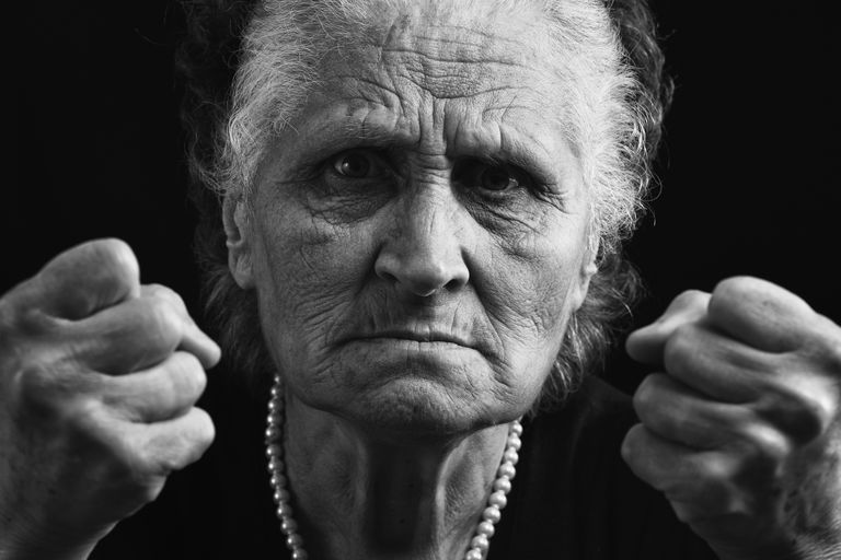 Angry, Combative Woman with Dementia