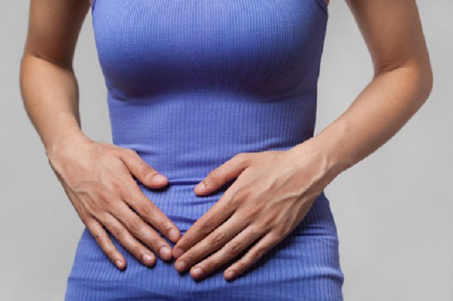 Pain or cramps in stomach/pelvis area