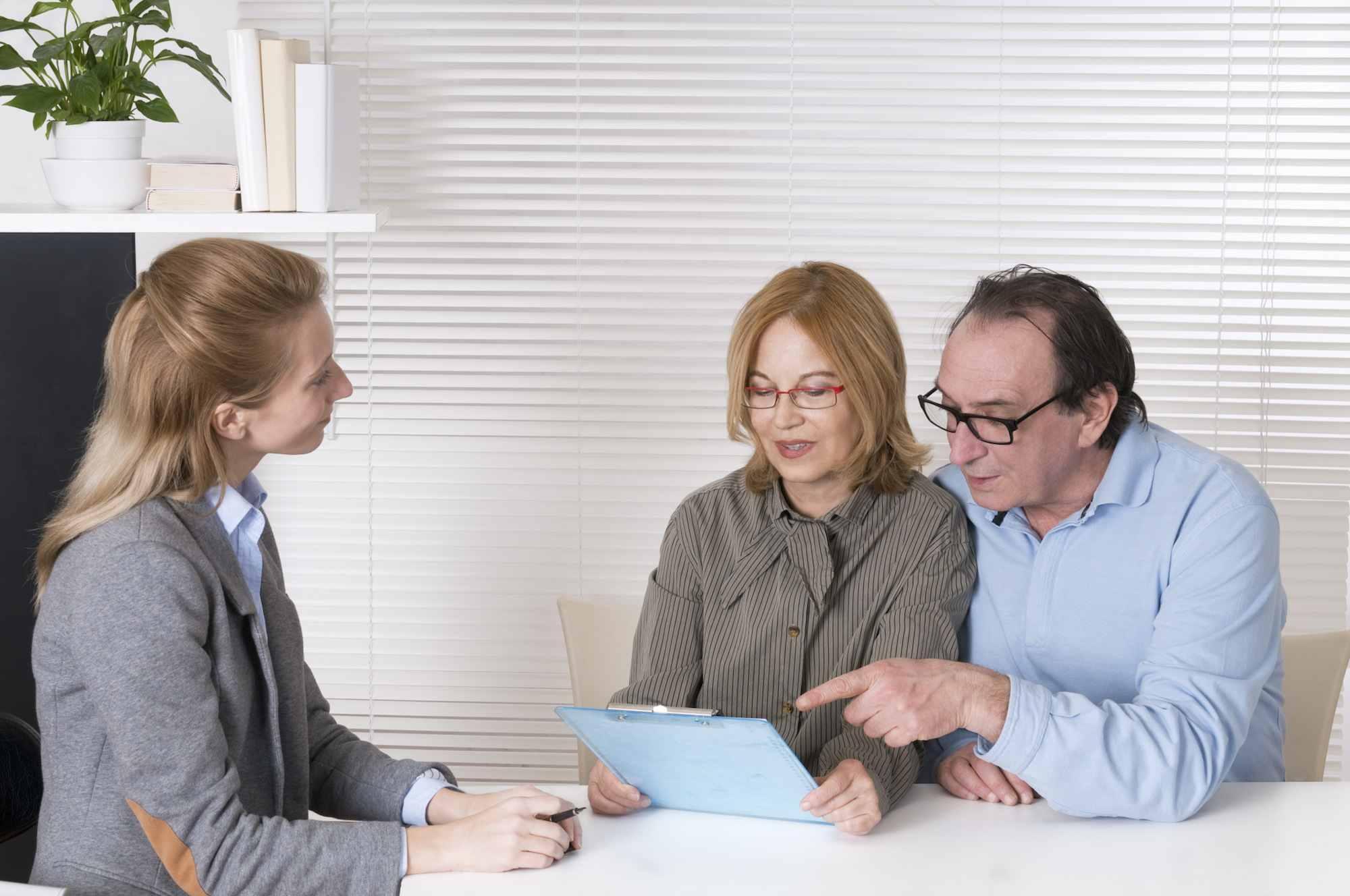 Financial Advisor and Mature Couple