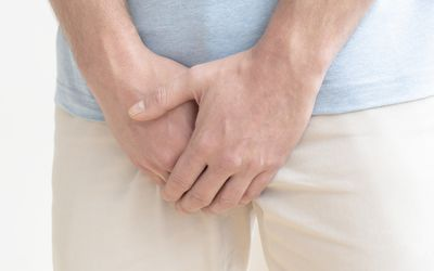 a man with groin pain
