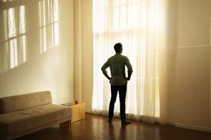 Man Alone Watching Dawn