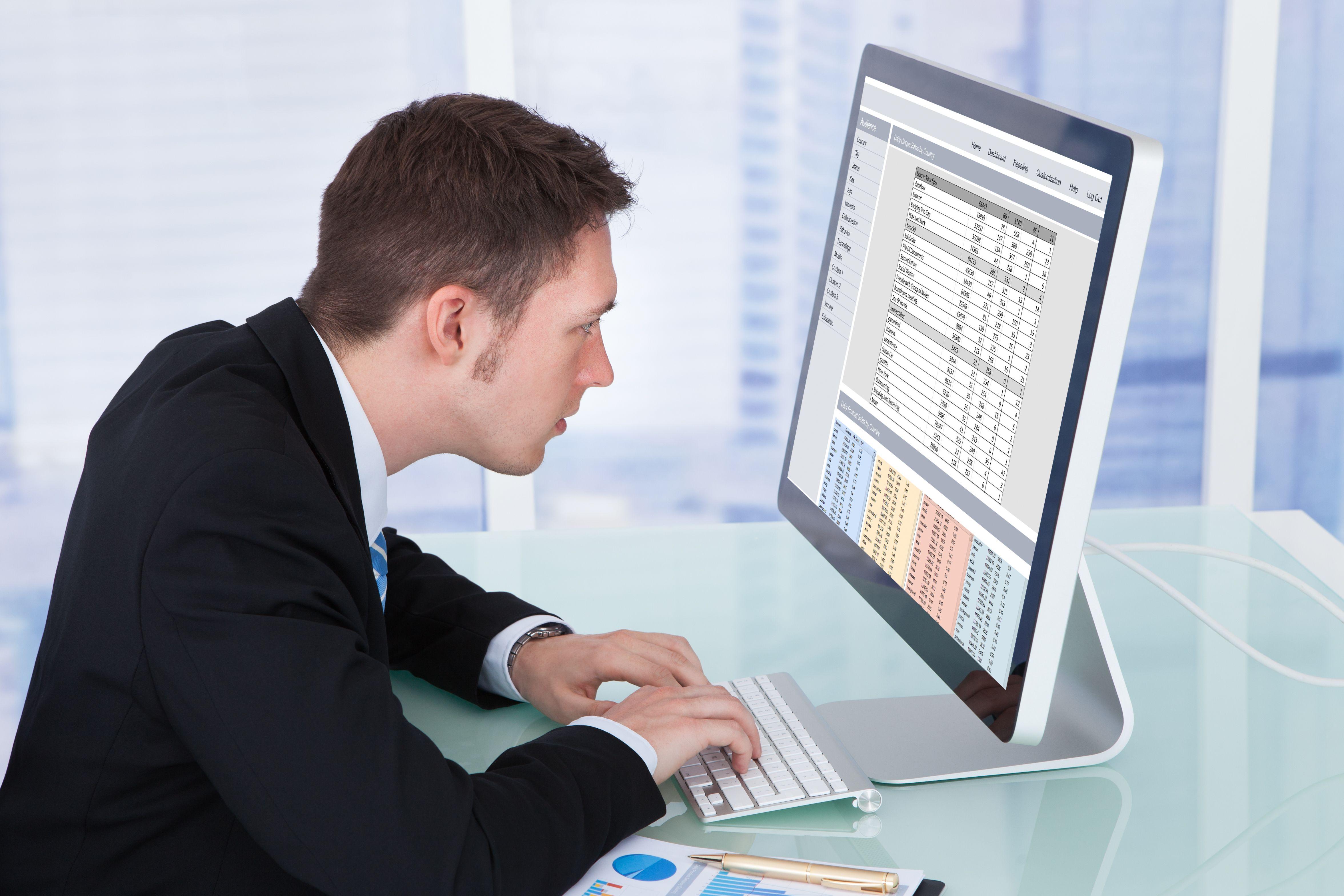 Kyphosis and forward head posture at the computer.